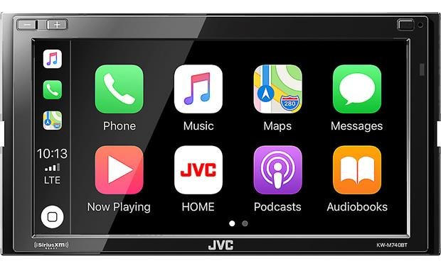 JVC KW-M740BT This JVC digital media receiver works with Apple CarPlay as well as Android Auto.