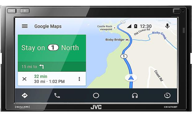 JVC KW-M740BT Use apps to get maps