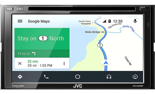 JVC KW-V840BT Screenshot of Android Auto using Google Maps for navigation