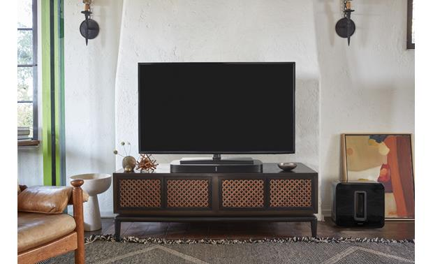 Sonos Playbase Black - use with Sonos SUB for a 3.1 home theater system (TV and SUB not included)