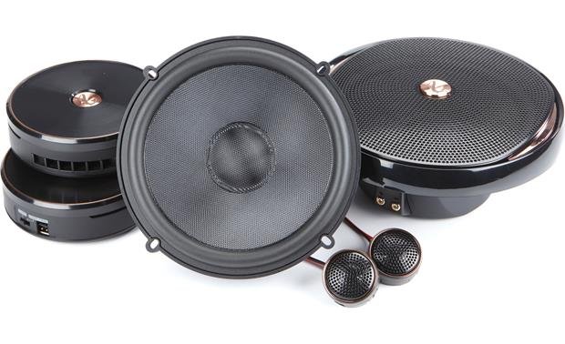 Infinity Kappa 60csx Tweeters, woofers, and crossovers shown