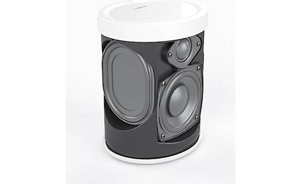 Yamaha MusicCast 20 (WX-021) White - side-mounted passive radiators reinforce the bass