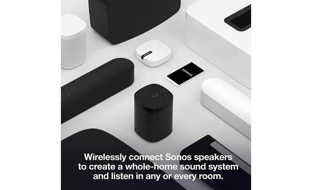 Sonos Beam Conencts with all Sonos products (available separately, smartphone not included)