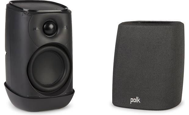 Polk Assist Midnight Black with grille removed