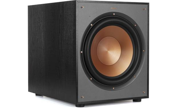 Klipsch R-120SW Shown with magnetic grille removed