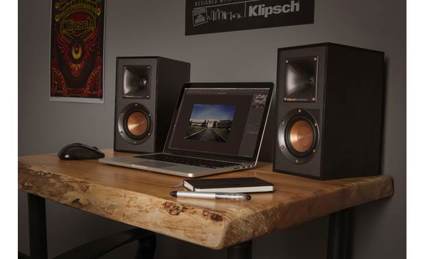 Klipsch Reference R-41PM USB port lets you connect to your computer (not included)