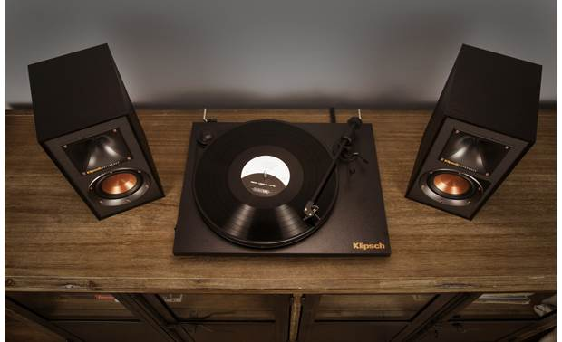 Klipsch Reference R-41PM A built-in phono preamp lets you connect a turntable (not included) directly