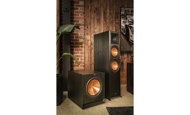 Klipsch Reference Premiere RP-8000F Shown as part of a Klipsch home theater system