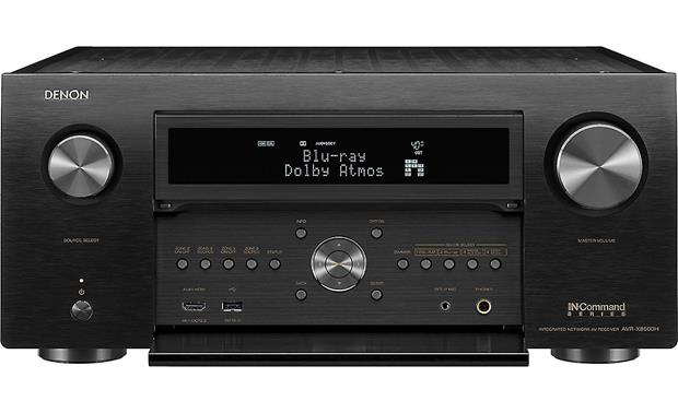 Denon AVR-X8500H Front panel connections and controls
