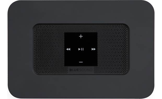 Bluesound Node 2i Black - top-mounted control buttons