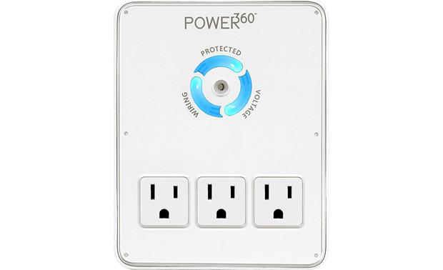 Panamax Power360 P360-Dock Circle of Protection LED display shows the status of your protection, wiring, and voltage