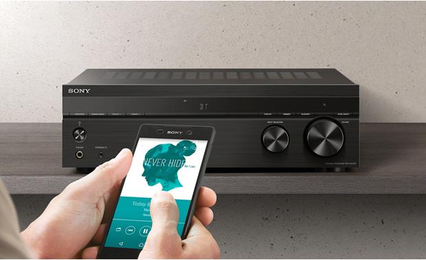 Sony STR-DH190 Bluetooth® Standby lets you activate the receiver and stream music from your paired smartphone