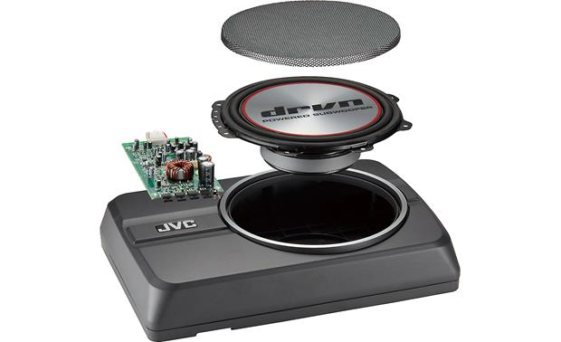 JVC CW-DRA8 Shallow-mount sub and amp