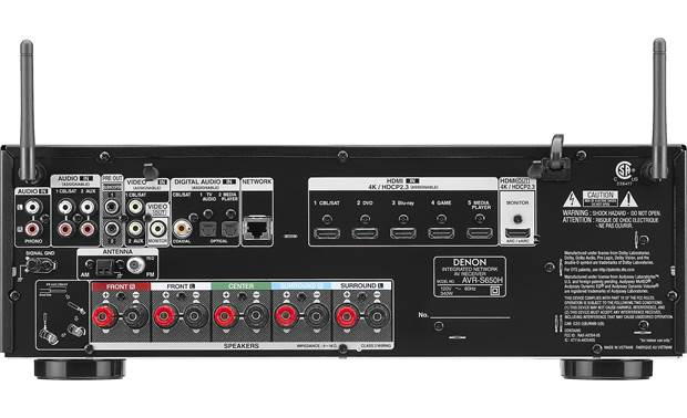 Denon AVR-S650H (2019 model) Back