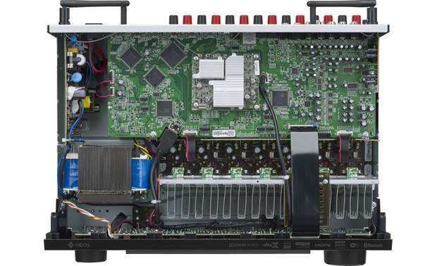 Denon AVR-X1600H (2019 model) Inside look at circuitry and construction (top panel removed)