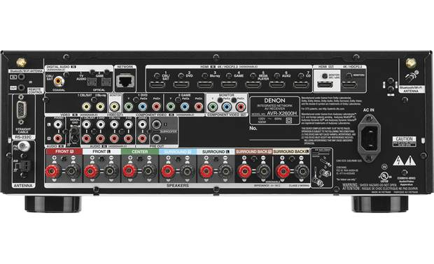 Denon AVR-X2600H (2019 model) Back