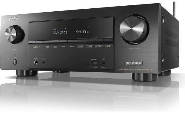 Denon AVR-X2600H (2019 model) Angled front view