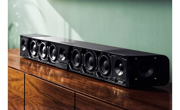 Sennheiser AMBEO Soundbar 13 built-in drivers deliver 5.1.4-channel sound from a single sound bar
