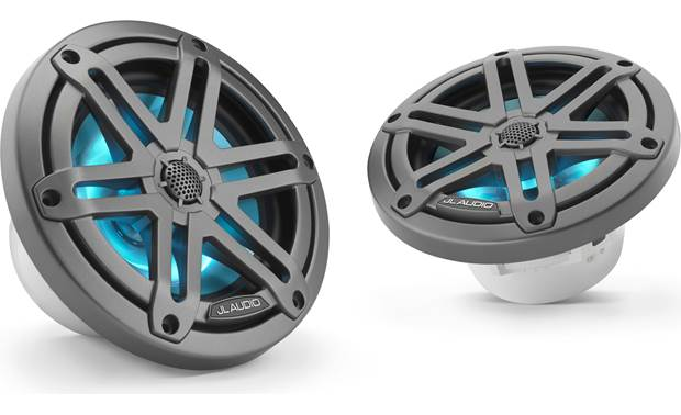 JL Audio M3-650X-S-GM-I JL Audio builds the tweeter into the grille of this LED-equipped speaker