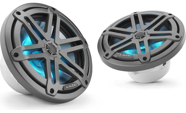 JL Audio M3-770X-S-GM-I JL Audio builds the tweeter into the grille of this LED-equipped speaker