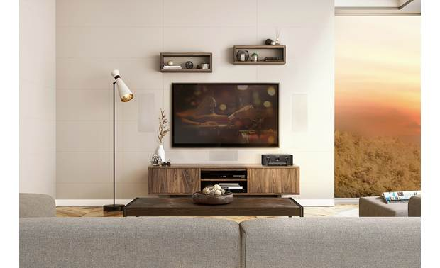 Marantz SR5014 (2019 model) Shown as part of a custom-installed home theater system