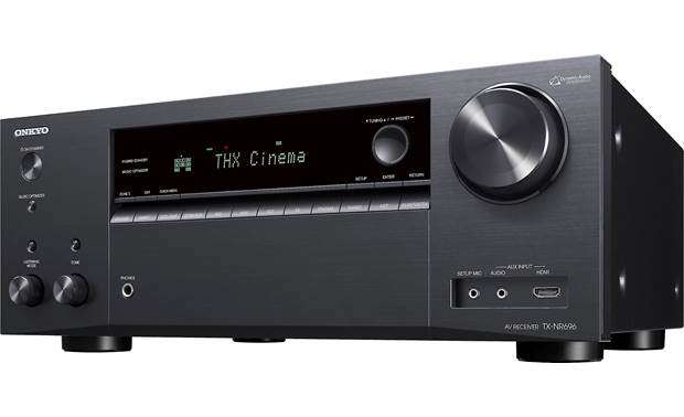Onkyo TX-NR696 (2019 model) Angled front view
