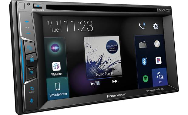 Pioneer AVH-1550NEX An improved graphical interface makes it easy to control your favorite sources.