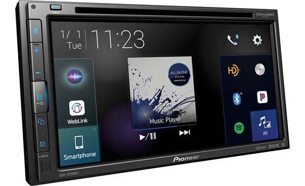 Pioneer AVH-2550NEX Improved interface.