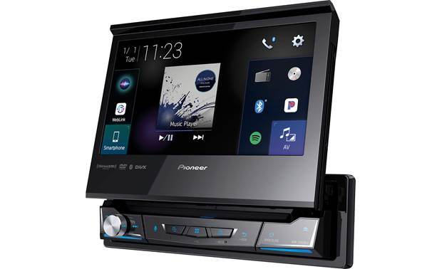 Pioneer AVH-3500NEX Motorized, fold-out screen.