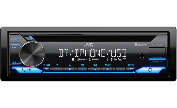 JVC KD-T710BT Roll on down the road with lots of ways to get to your music