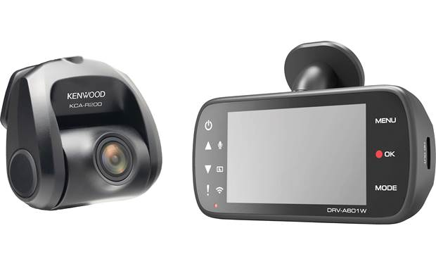 Kenwood DRV-A601WDP Built-in Wi-Fi lets you view recorded video on your paired smartphone
