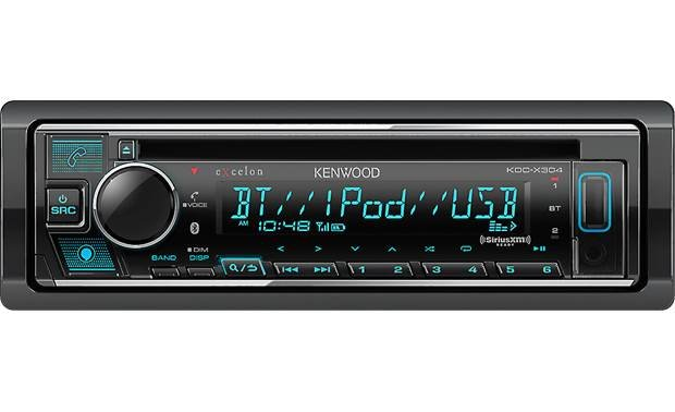 Kenwood Excelon KDC-X304 Slick controls let you pick your music choices and shape how it sounds