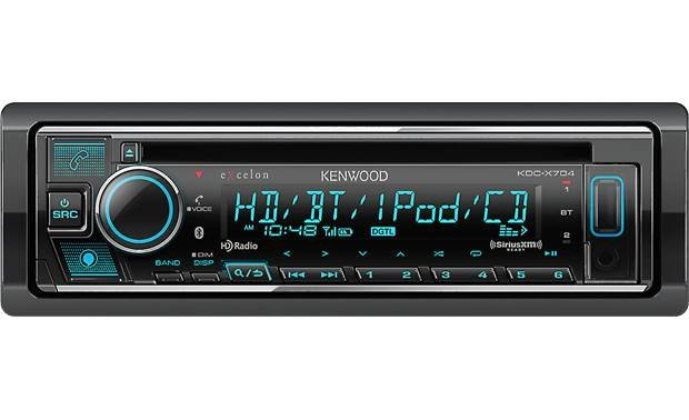 Kenwood Excelon KDC-X704 There's no shortage of music options on this Kenwood