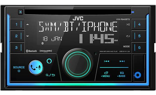 JVC KW-R940BTS Get total control over your music and the look in your dash