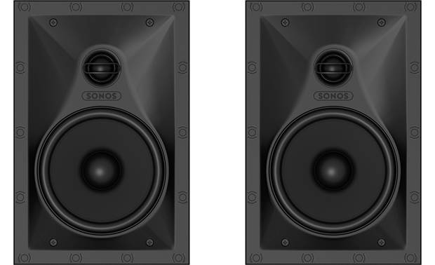Sonos In-wall Speakers Shown with grilles removed