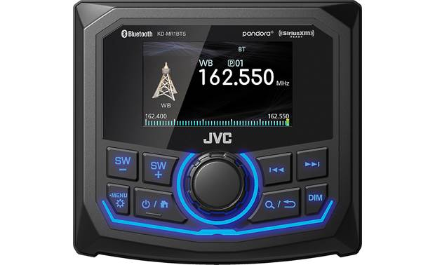JVC KD-MR1BTS Incorporate a rear-view cam for extra coverage on your boat or ATV