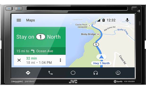 JVC KW-V950BW Android Auto lets you choose from several navigation and music apps