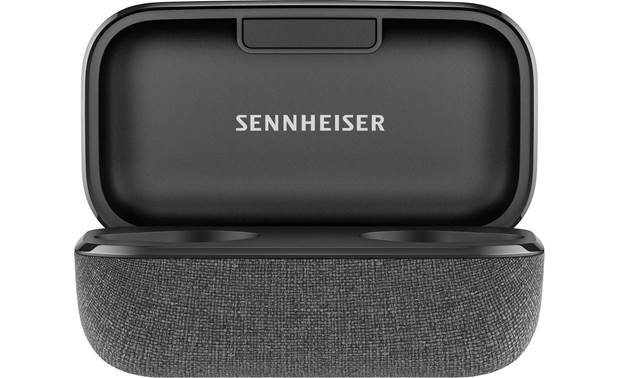 Sennheiser Momentum True Wireless 2 Included charging case banks 21 hours of power to recharge headphones