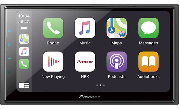 Pioneer DMH-W4660NEX Wireless Apple CarPlay and Android Auto are built-in