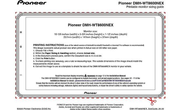 Pioneer DMH-WT8600NEX Other