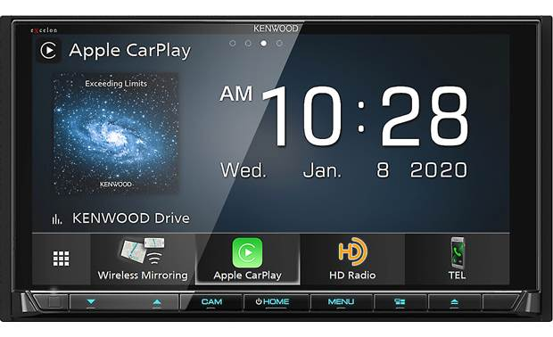 Kenwood Excelon DDX9907XR This big-screen beauty offers Apple CarPlay and Android Auto for great smartphone integration