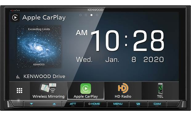Kenwood Excelon DMX907S Add wireless Apple CarPlay and Android Auto