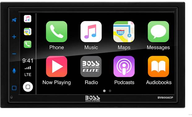 Boss BV800ACP Enhance your smartphone experience with built-in Apple CarPlay and Android Auto