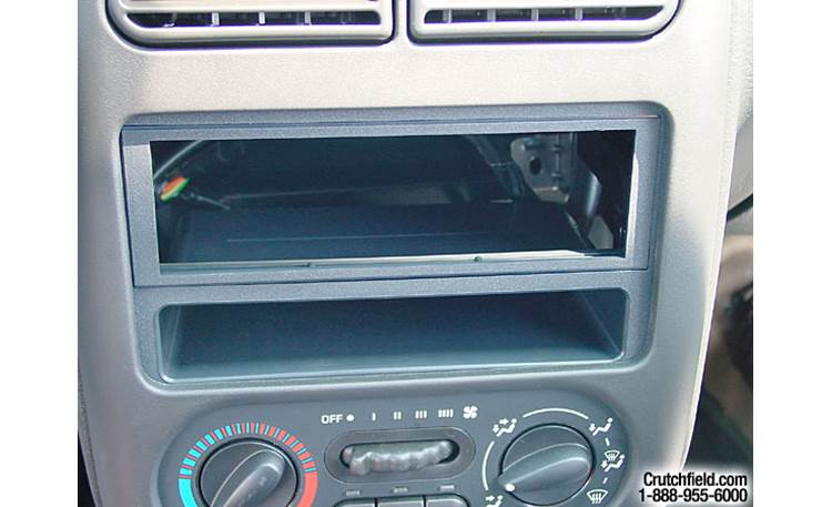 American International GM-K412 Dash Kit Kit installed without car stereo