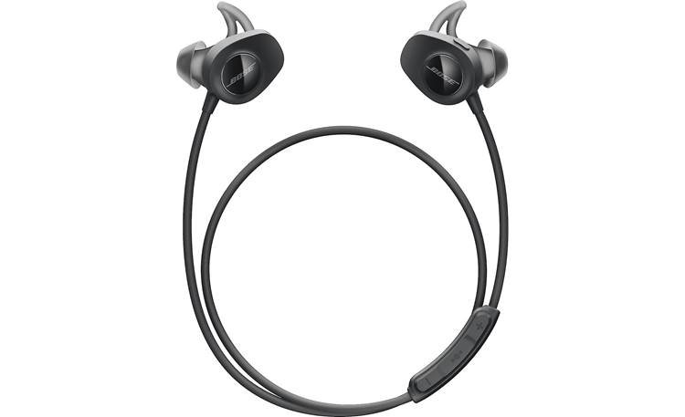 Bose® SoundSport® wireless headphones Wraparound cable includes a remote to control music and calls