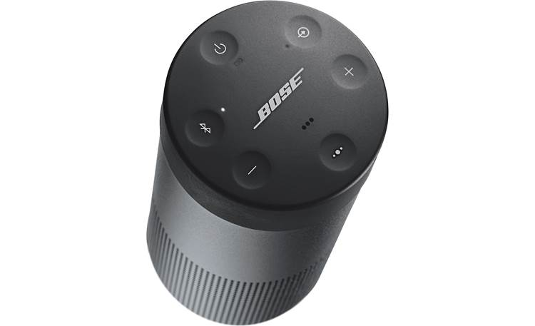 Bose® SoundLink® Revolve <em>Bluetooth®</em> speaker Triple Black - top-mounted indented control buttons