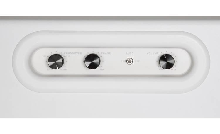 Bluesound Pulse Sub White - inset control knobs