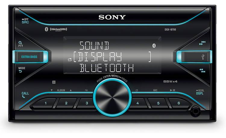 Sony DSX-B700 Sony's 3-line display lets you see more of what you play