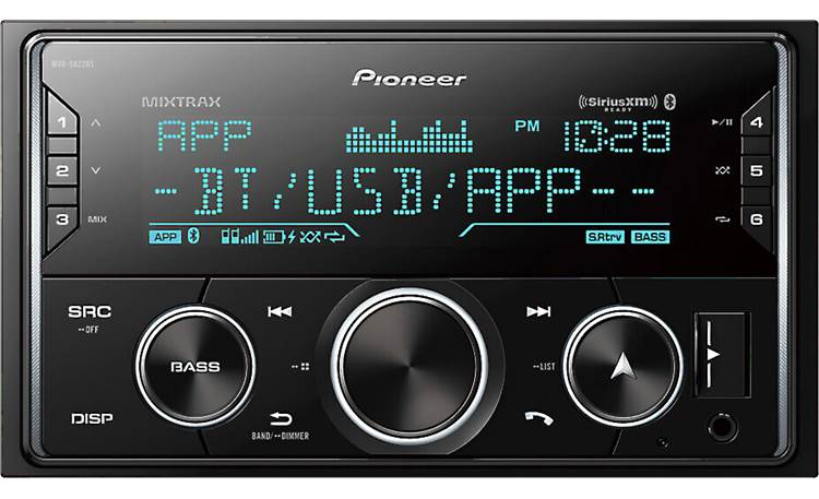 Pioneer MVH-S622BS A big display for easy control of all your favorite sources