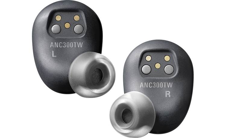 Audio-Technica ATH-ANC300TW Four sizes of silicone ear tips and one pair of Comply foam tips for secure, comfortable fit